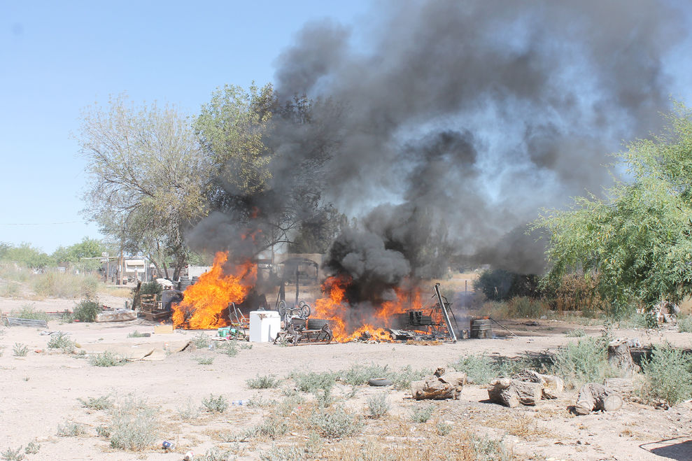 Fire destroys trailer