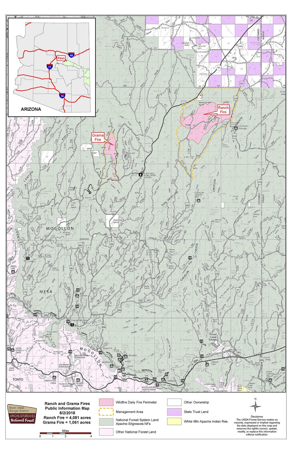 Multiple fires burning in Apache-Sitgreaves National Forest ...