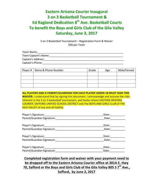 3-on-3 Registration     eacourier com