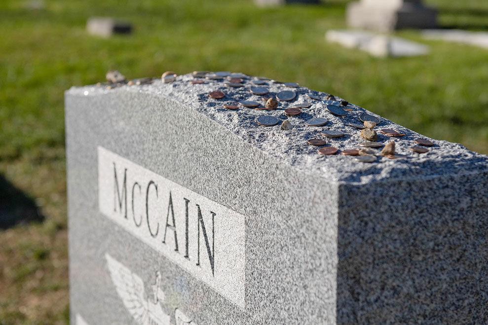John McCain gravestone