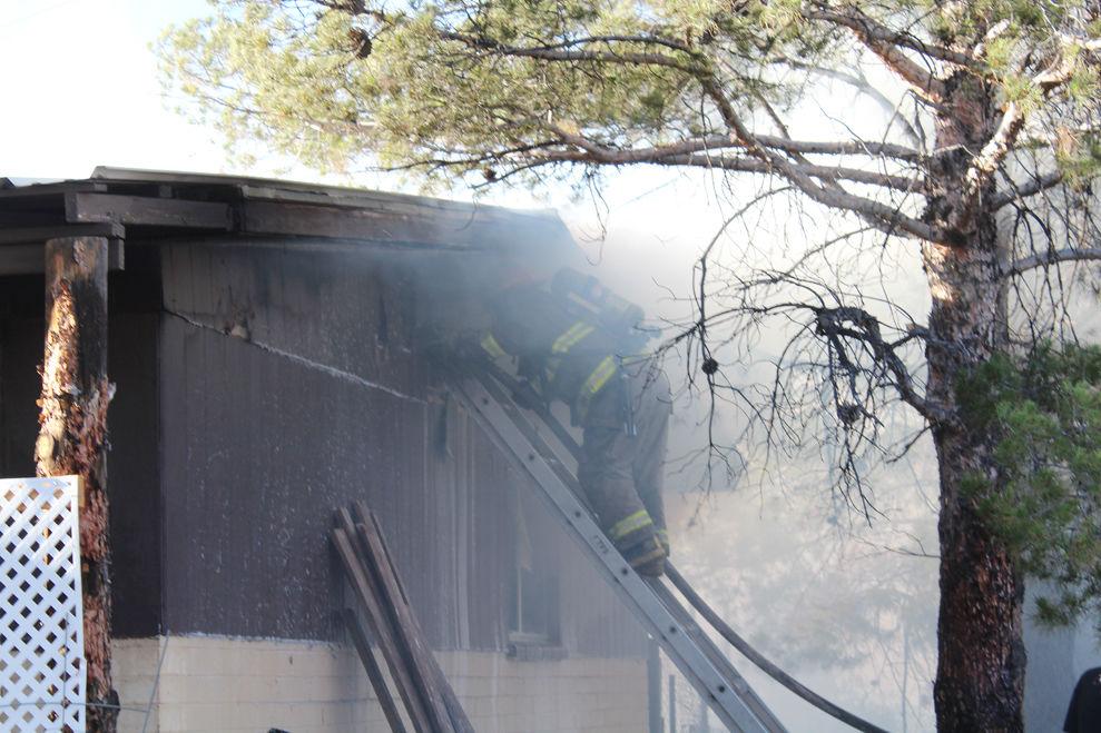 Battling a house fire