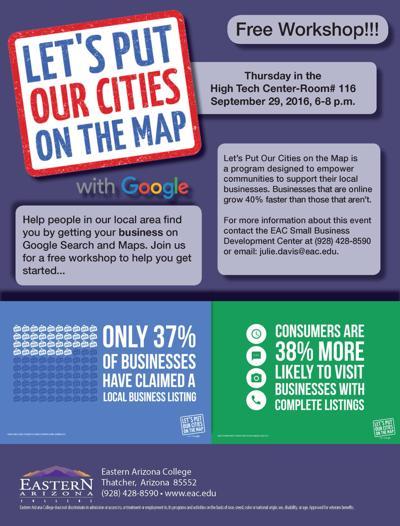Map Of Eastern Arizona.Eac S Sbdc Hosting Free Google Maps Seminar Local News Stories