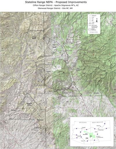 Range allotments in Clifton and Glenwood Ranger Districts