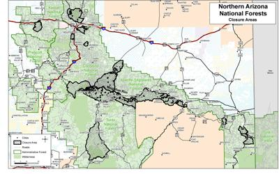 Closures announced for Apache-Sitgreaves National Forests ...
