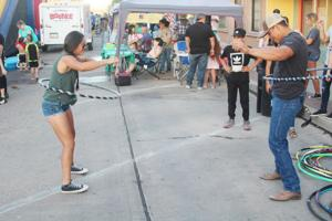 Families crowd Main Street for inaugural Safford Summer Block Party