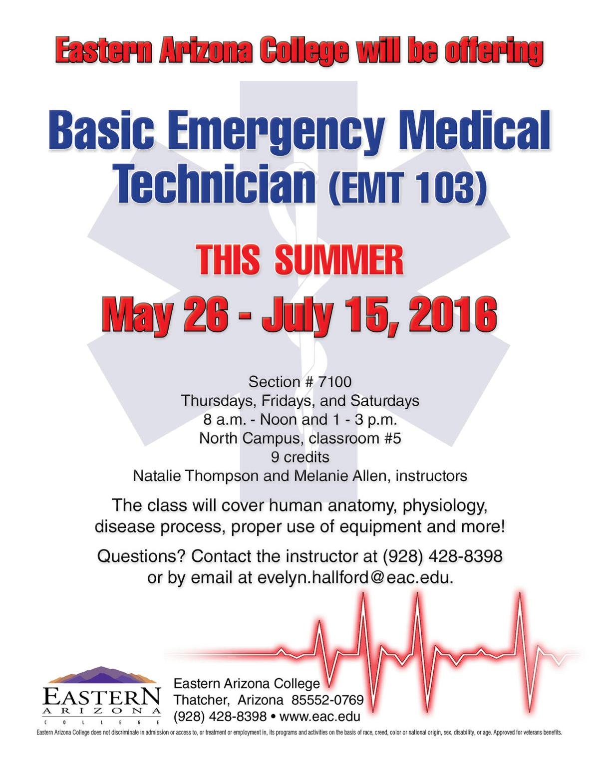 EAC offering EMT summer class | Local News Stories | eacourier.com