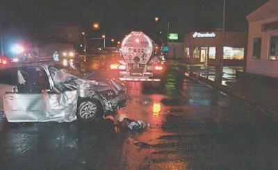 Driver taken to hospital after crash with semi truck | Local