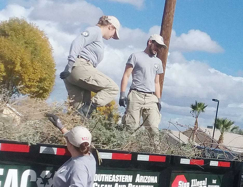 New NCCC team serves in Gila Valley