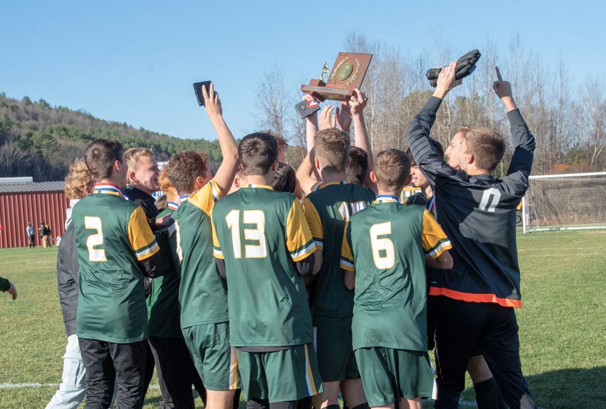 Green Mountain soccer team celebrates