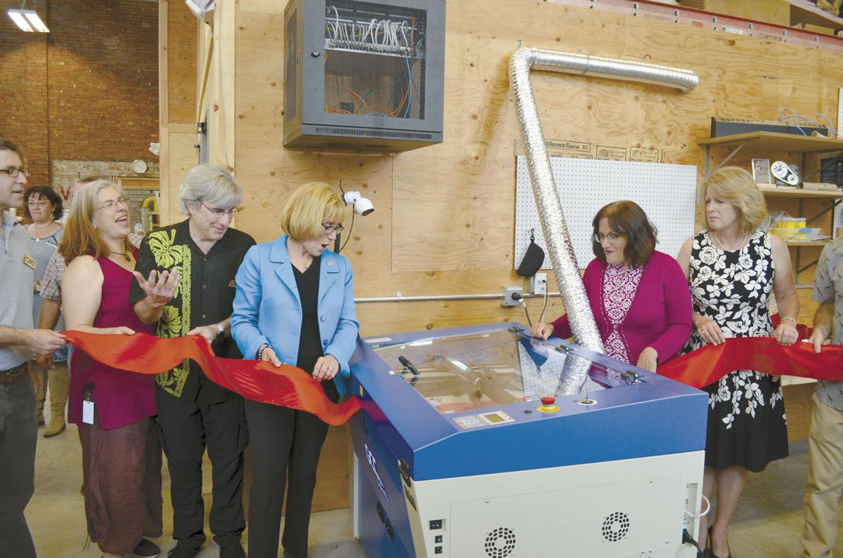 Makerspace ribbon cutting