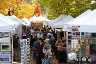 Newfane Heritage Festival booths