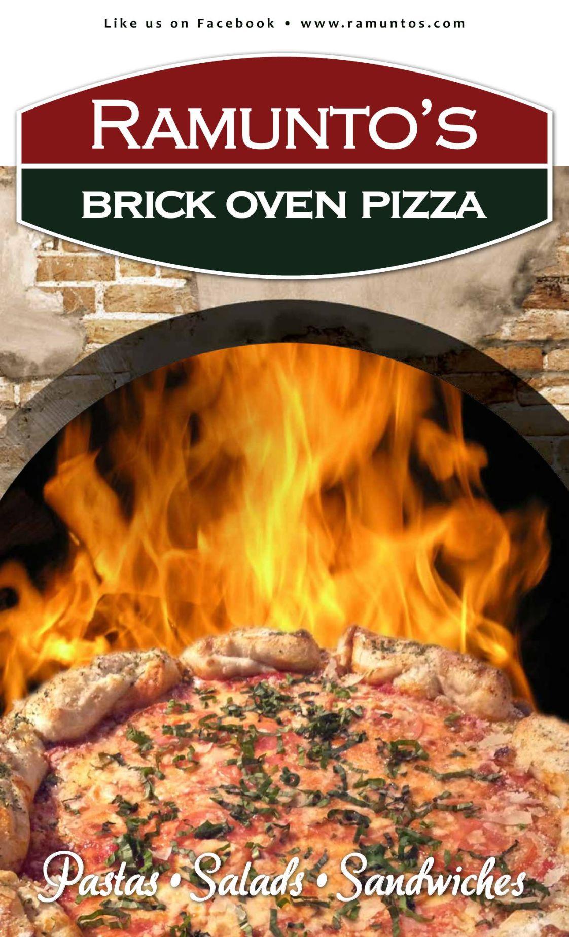 Ramunto's Brick Oven Pizza Menu