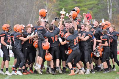 10282020 Newport celebrates after winning the Chamber Cup on Saturday. Christopher Shaban photo