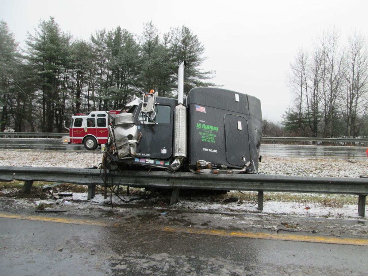 Tractor-Trailer Crash Front Half