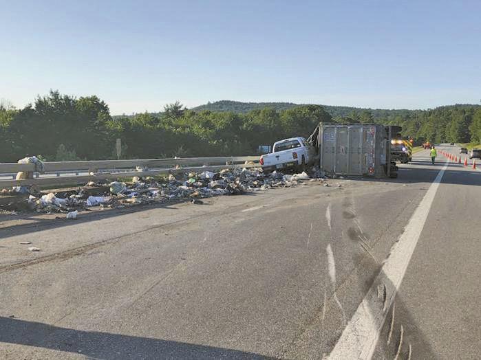 Truck rollover on I-89