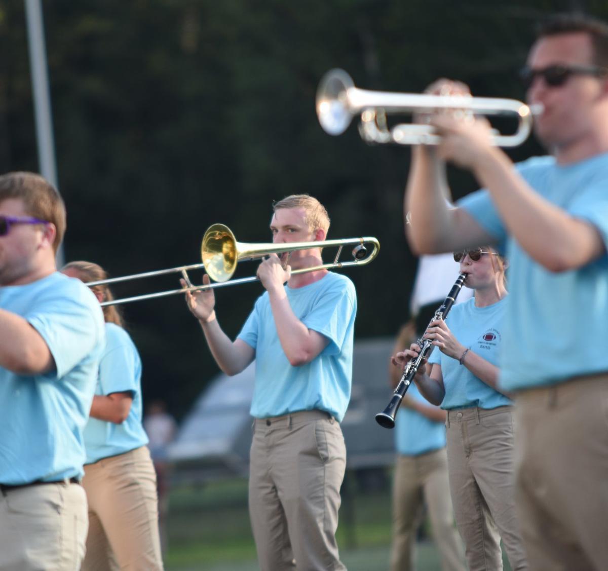 Mathew Knowltonon on the trombone
