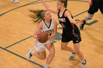 Photo: Eagle Windsor vs Newport girls basketball from Saturday