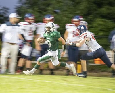 09142021 Mill River's Connor Lopiccolo Springfield Quarterback Sam Presch