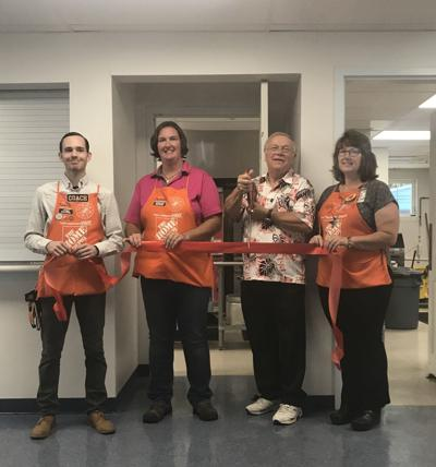 Claremont Home Depot staff with Senior Center Project Coordinator