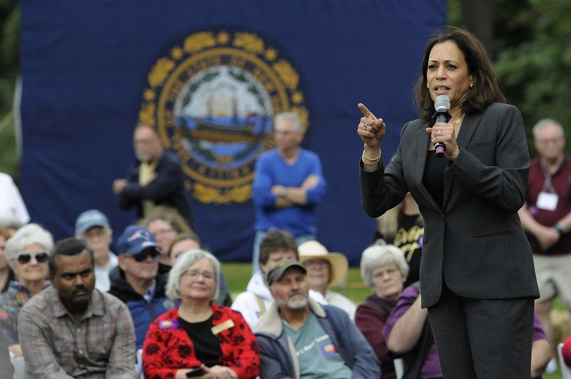 Kamala Harris rallies at Londonderry orchard