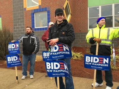 Supporters stay the course as Biden skips town