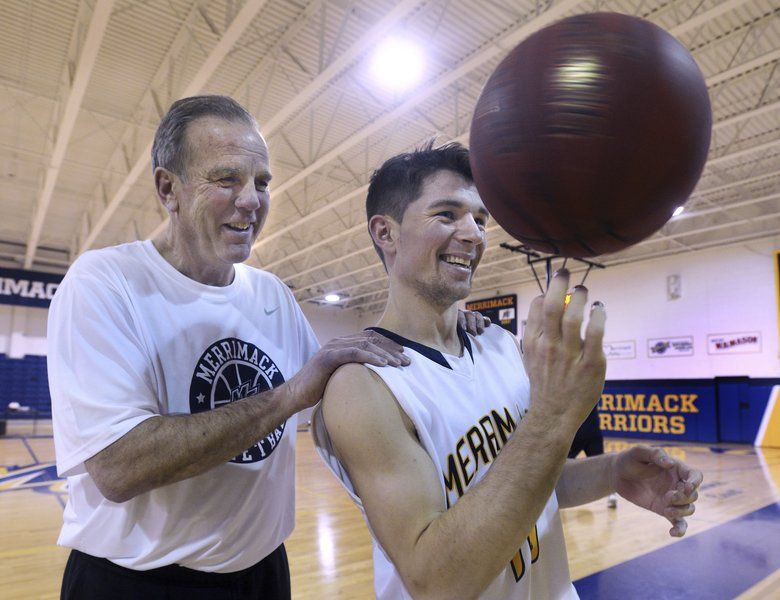 Family affair uncle bert and nephew troy hammel made a great team merrimack college basketball coach bert hammel with his nephew troy hammel sciox Images