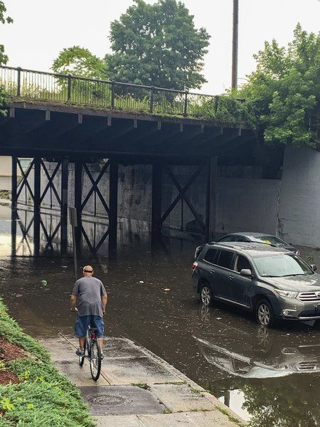 Downpours cause flooding, traffic backups