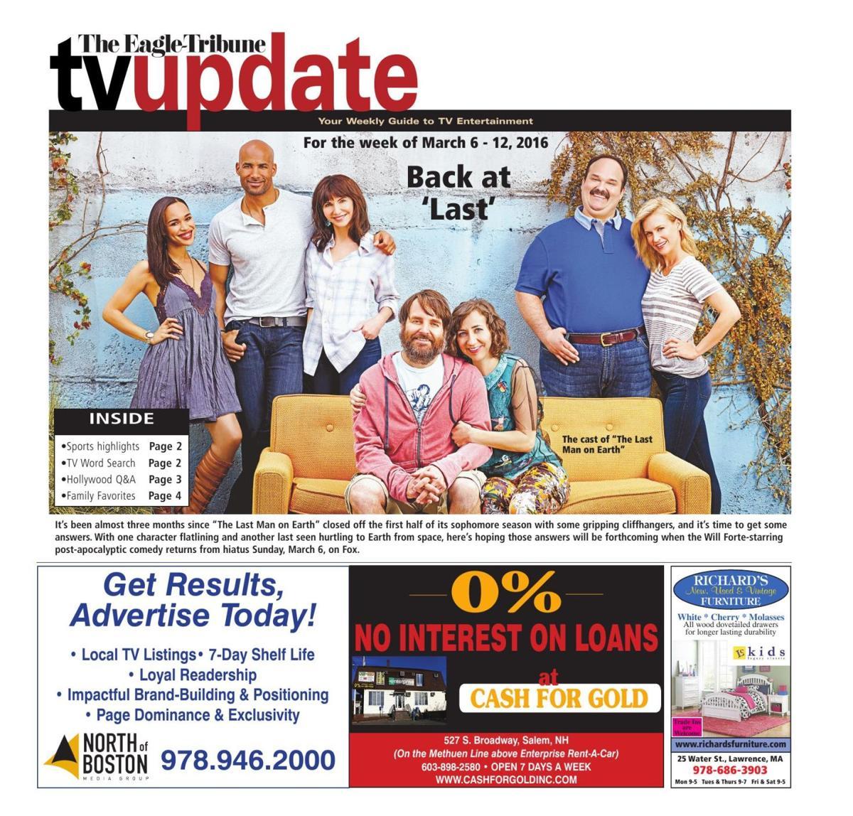 TV Update, March 6-12   TV Listings   eagletribune com