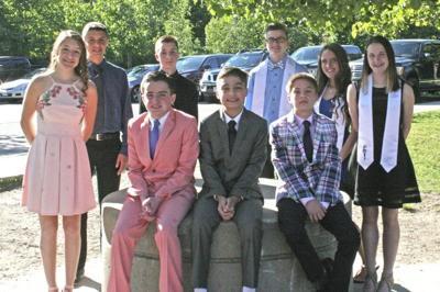 Three sets of triplets graduate from Methuen school