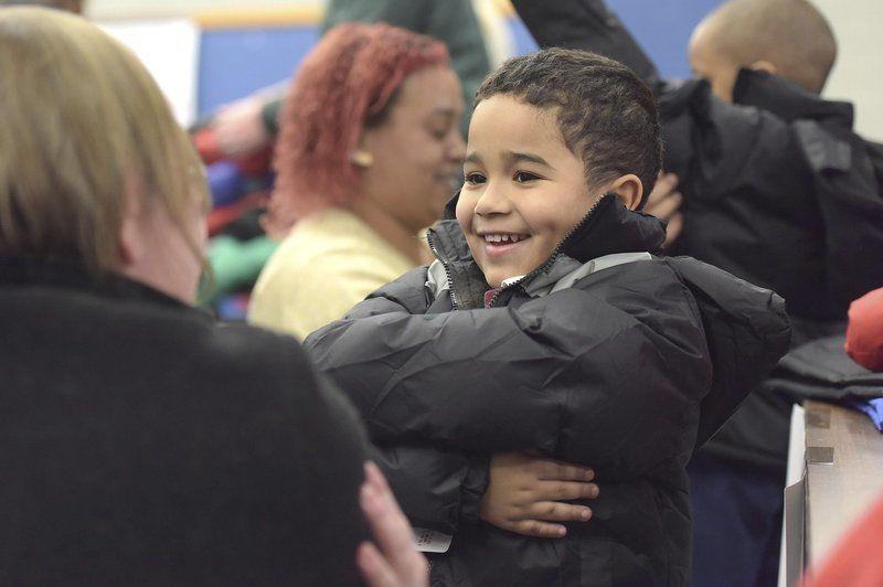 Hennessey School children get warm coats for winter