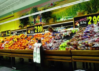 Grocery store shopping