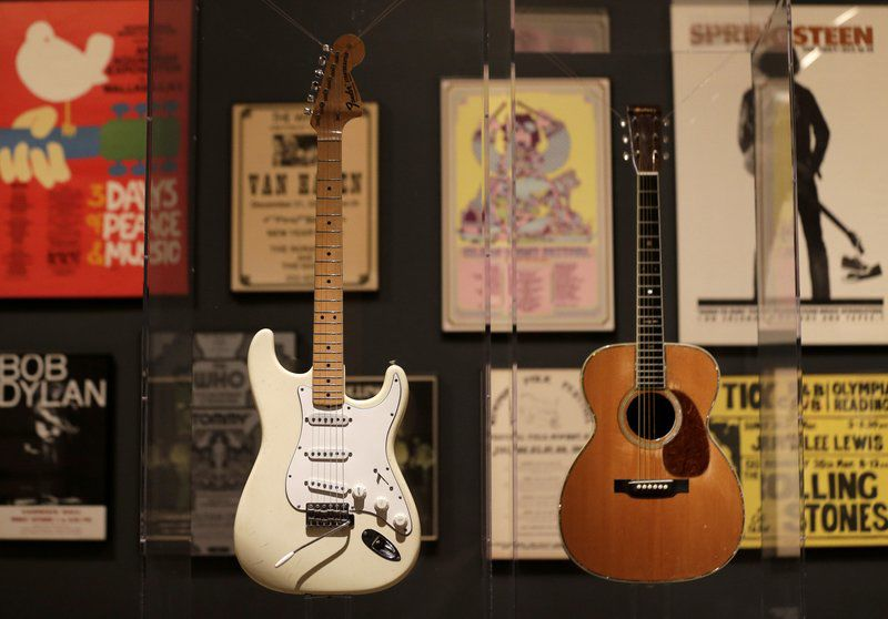 The art of rock 'n' roll: Exuberant exhibit gives up-close look at iconic instruments