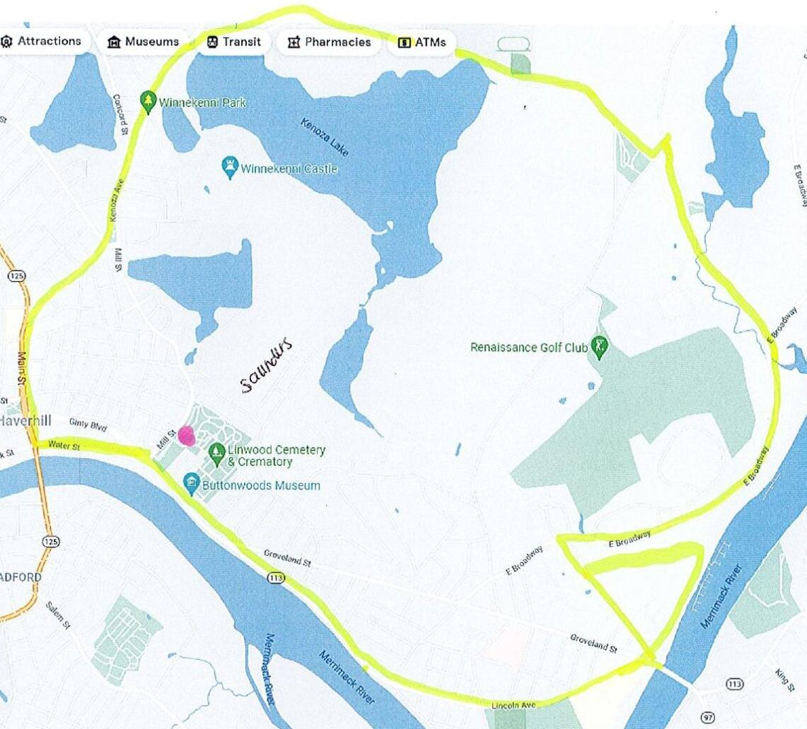 Map of mosquito spraying area