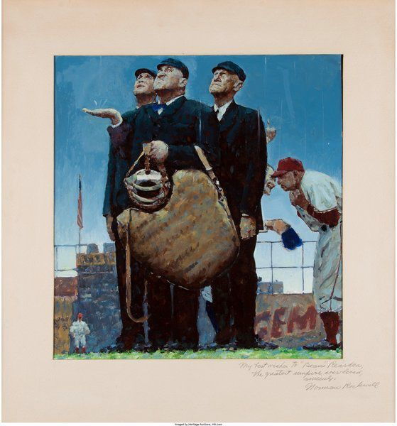 Norman Rockwell baseball painting sells for $1.6M