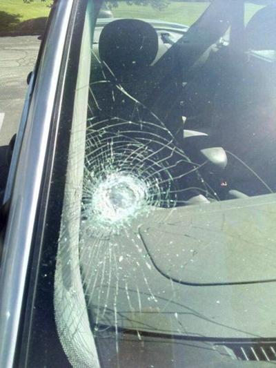 Police increase patrols after rock hits windshield