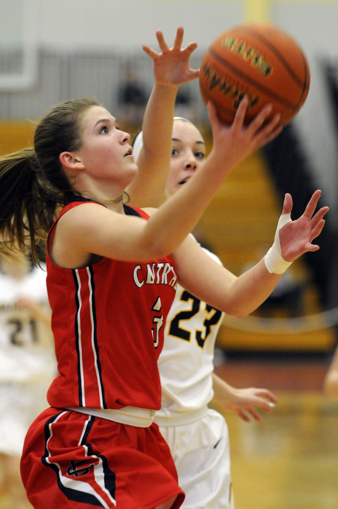 basketball coach cover letter%0A Central u    s Maura Smith drives to the hoop and scores against Andover u    s  Meghan Stickney during the Commonwealth