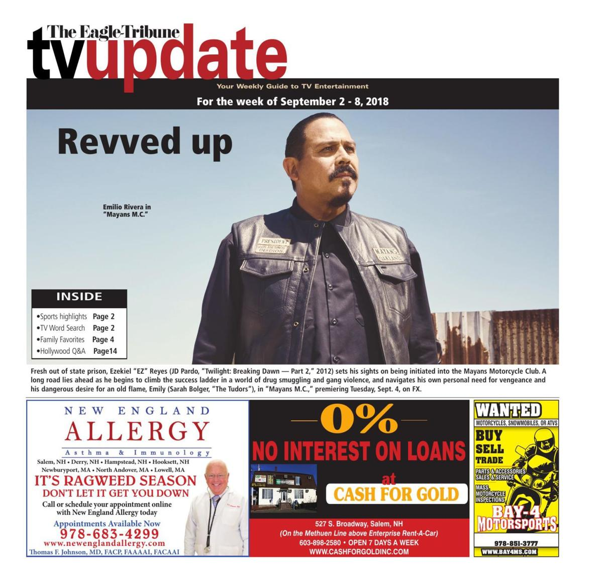 TV Update: Sept. 2-Sept. 8
