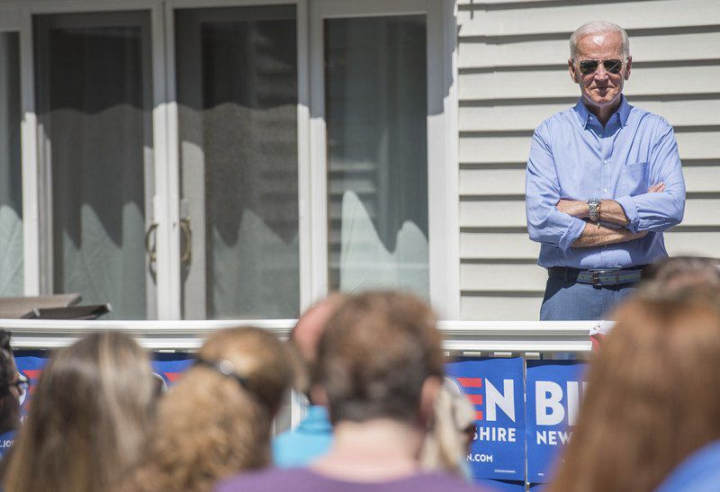 Biden reflects on his career during Atkinson visit