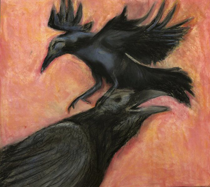 The coming of the crows: Essex Art Center's shows celebrate wintering visitors