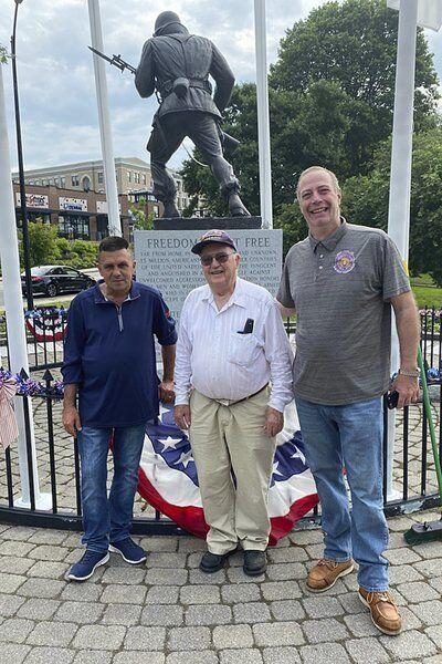 Union workers, veterans repair vandalized Korean War Memorial
