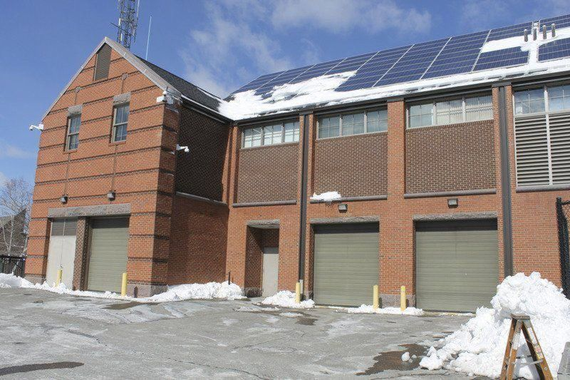 Sliding ice, snow on PD roof a'safety concern'