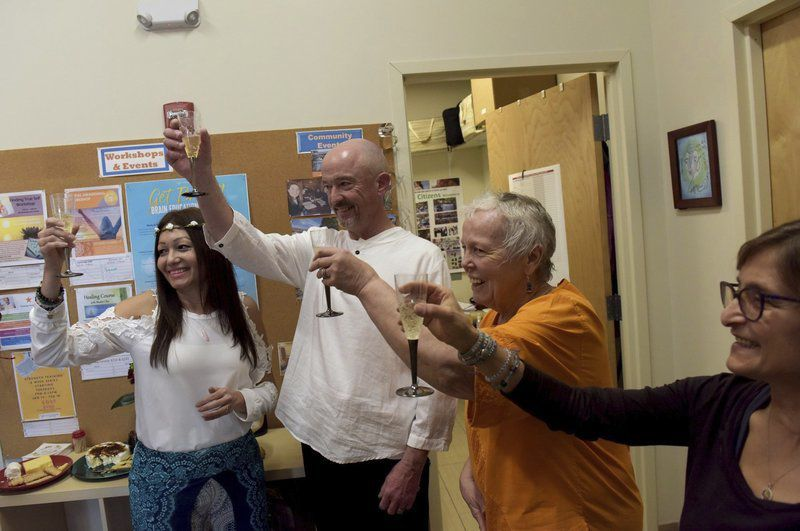 Couple gets married at Lawrence yoga studio