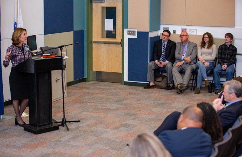 Gov. Baker announcesstatewide grants at Lawrence High School