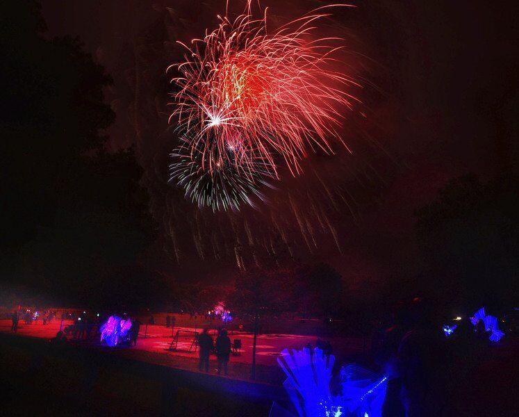 Haverhill fireworks brighten gloomy skies