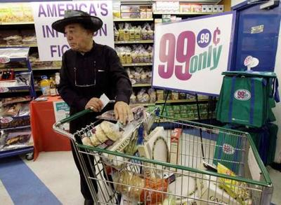 Associated Press File Jacques Elsair Shops At A 99 Cents Only Store In Los Angeles Early September Stores Said Commodity And Fuel Prices