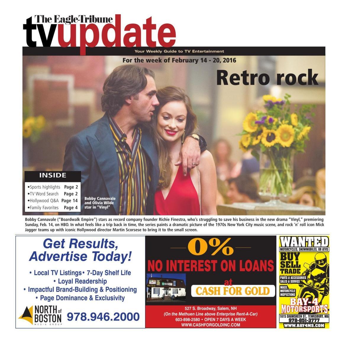 tv update, feb. 14-20 | tv listings | eagletribune