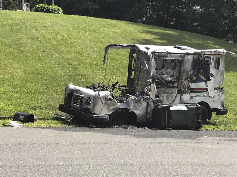 Mail truck catches fire in Londonderry neighborhood