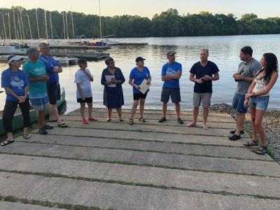 Kayaking legislators make it to Lawrence boathouse