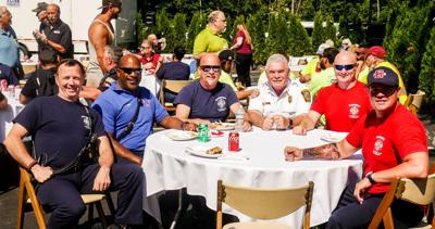 Firefighters attend appreciation cookout