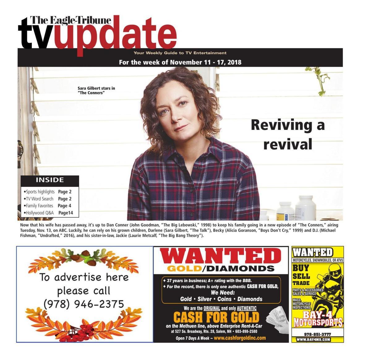 TV Update: Nov. 11-17